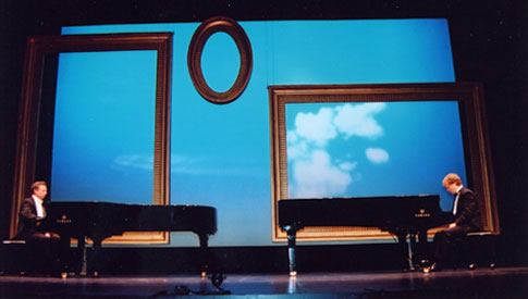 Two pianos, four hands at Merrimack Repertory Theatre