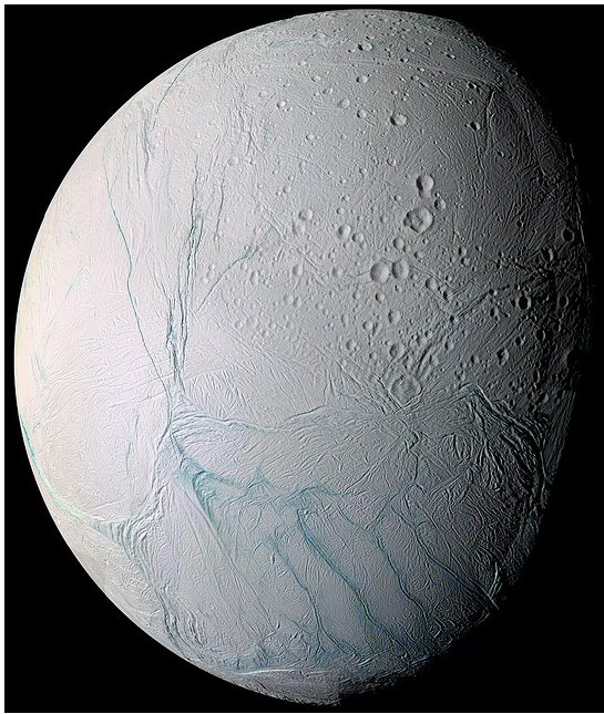Enceladus, small moon of Saturn