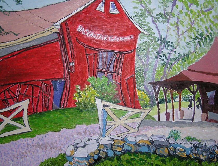 Hackmatack Pllayhouse, painting