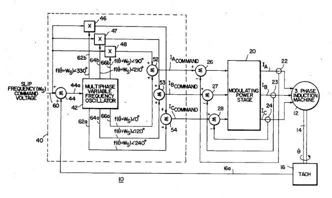 Patent 4,348,627 --  Induction motor controller with rapid torque response, inventor Don  Fulton