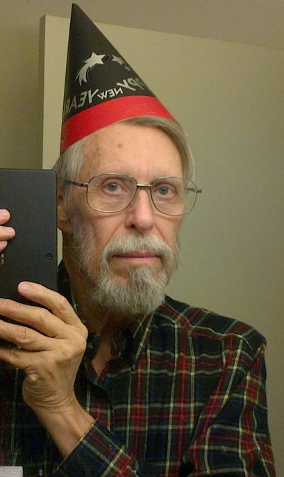 donald e. fulton selfie -- with new years hat, Donald E. Fulton_2